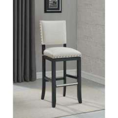 Bar Chairs With Arms And Backs A Chair For My Mother Activities Kindergarten Stools Kitchen Dining Room Furniture The Home Depot Jaxon 26 In White Swivel Cushioned Stool