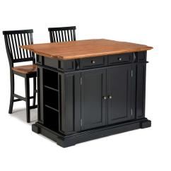 Kitchen Island Stool Countertops White Home Styles Americana Black With Seating 5003 948 The Depot
