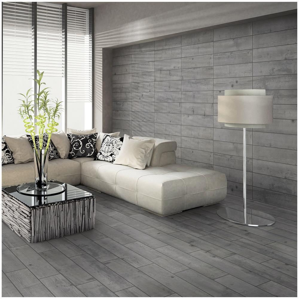 gray floor tiles living room