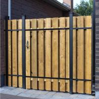 Slipfence 4 ft. x 6 ft. Wood and Aluminum Fence Gate-SF2 ...