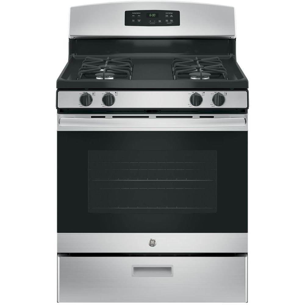 hight resolution of ge 30 in 4 8 cu ft gas range in stainless steel