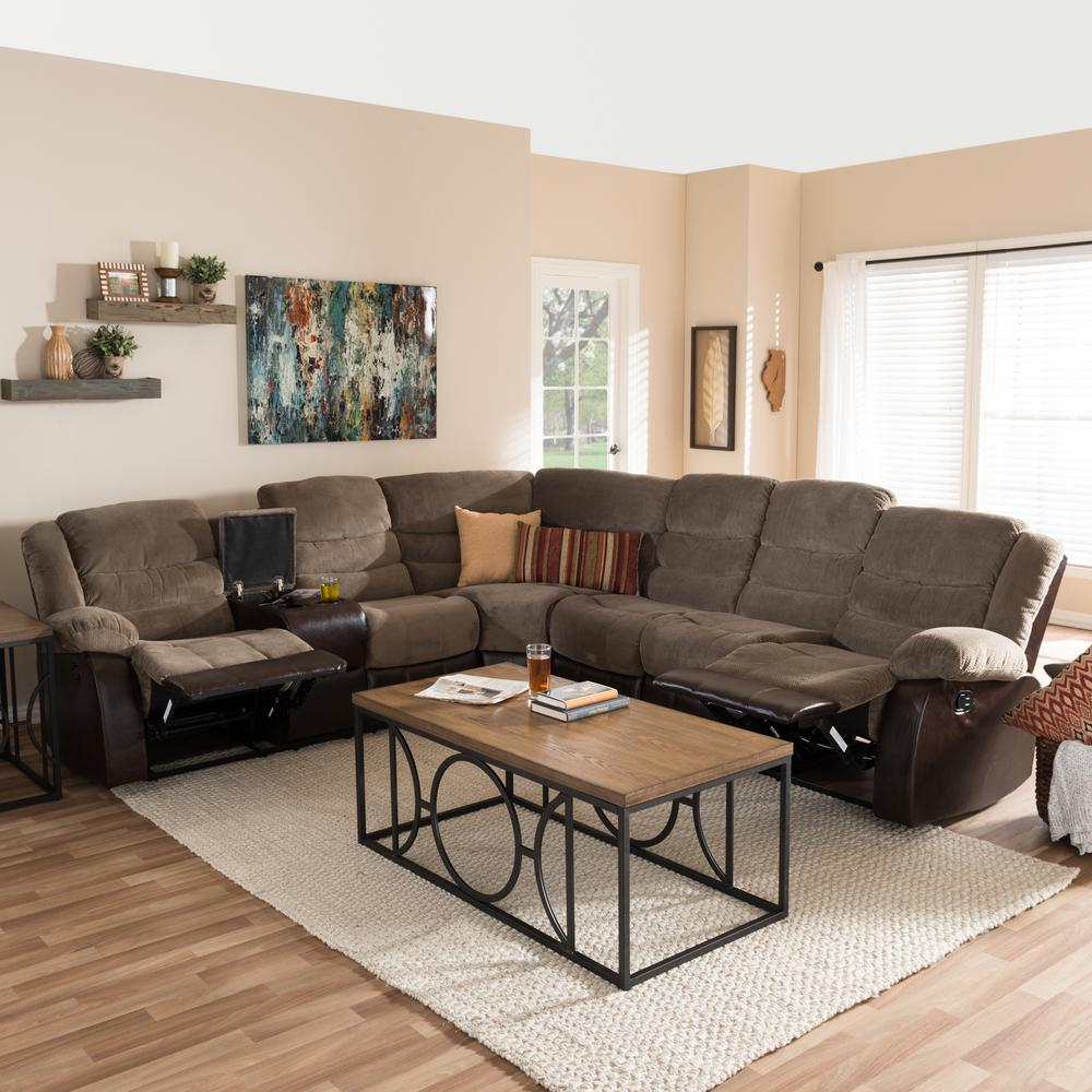 small living room with sectional couch decorate black sofa sectionals furniture the home depot robinson 4 piece contemporary taupe fabric upholstered l shaped
