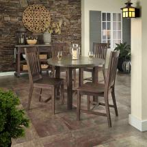 Home Styles Concrete Chic 5-piece Outdoor Patio Dining Set