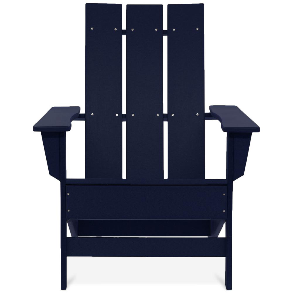 modern style adirondack chairs chair covers wedding glasgow durogreen aria navy recycled plastic