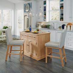 Pine Kitchen Chairs Ireland Mickey Mouse High Chair Islands Carts Utility Tables The Home Depot Cambridge White Wash Natural Island Set With Wood Top