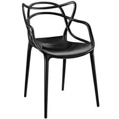 Mid Century Modern Plastic Chairs Intex Chair And Ottoman Dining Kitchen Room Entangled Black Arm