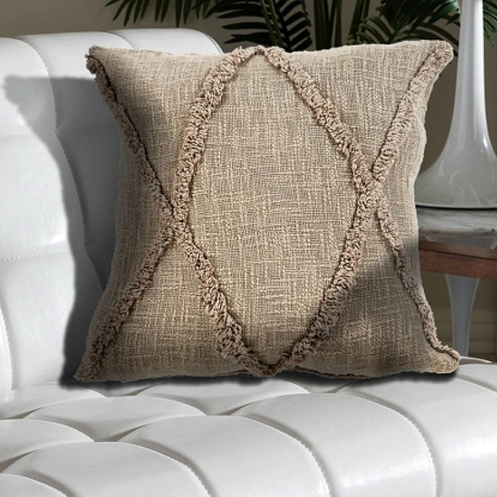 lr resources understated taupe solid hypoallergenic polyester 20 in x 20 in throw pillow pillo07325tauffpl the home depot