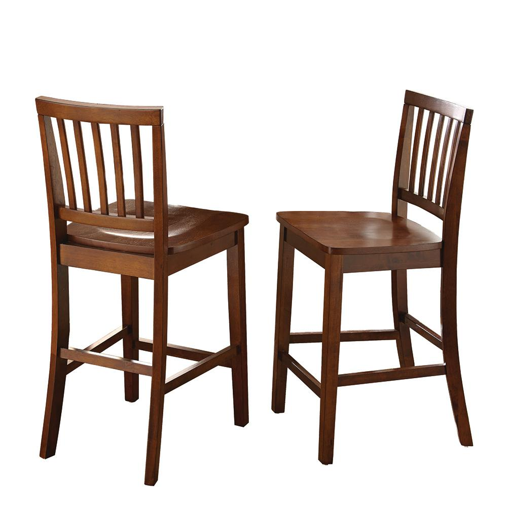 Fit Chair Branson 39 In Brown Counter Chair Set Of 2