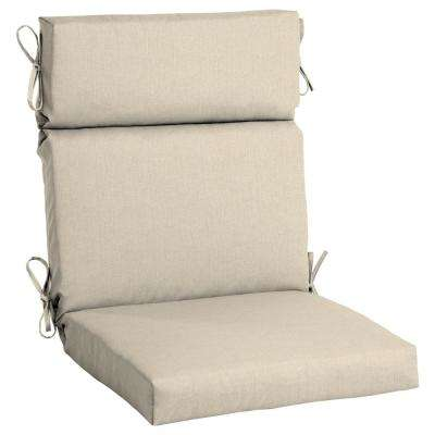 high back wicker chair cushions covers sashes beige tan outdoor the home depot 21 5 x 20 sunbrella canvas flax dining cushion