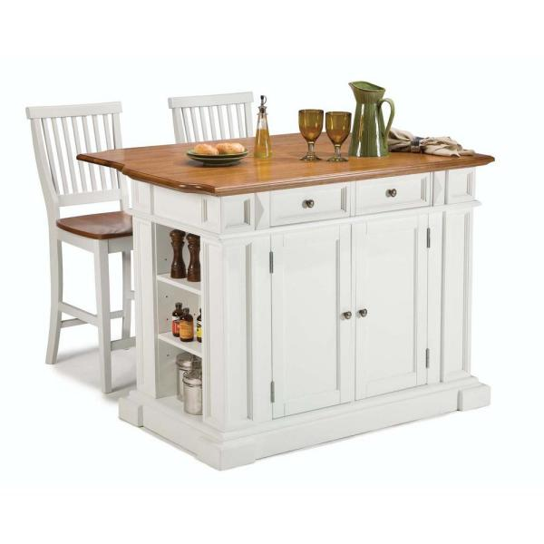 Homestyles 24 In White Bar Stool 5002 89 The Home Depot