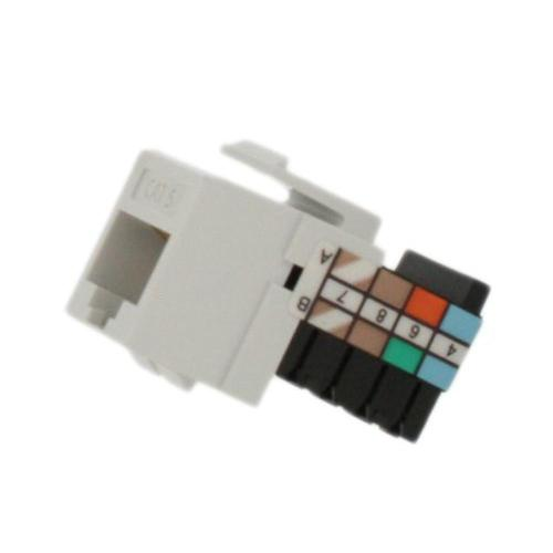small resolution of leviton quickport cat 5 connector white