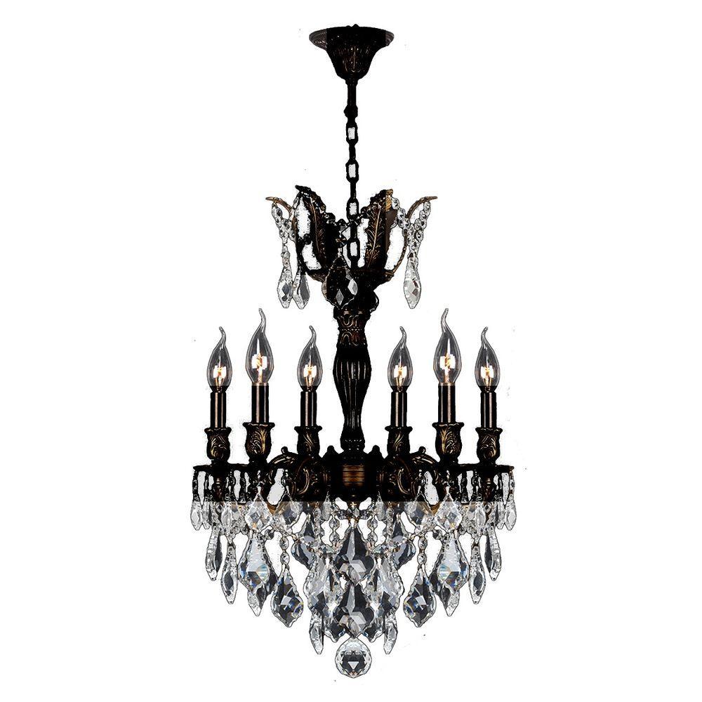 Worldwide Lighting Versailles 6-Light Flemish Brass