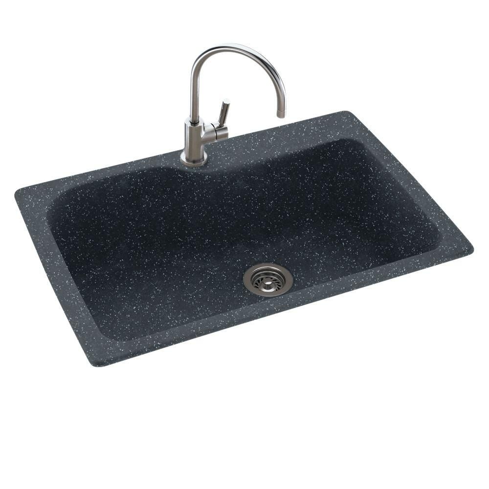 swanstone single bowl kitchen sink master forge outdoor swan drop-in/undermount composite 33 in. 1-hole ...