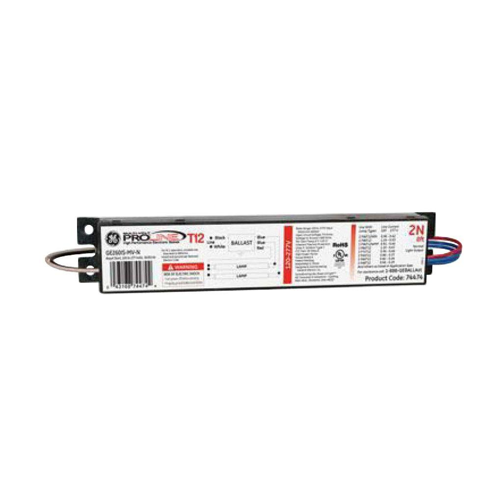 hight resolution of ge 120 to 277 volt electronic ballast for 8 ft 2 or 1 lamp t12 rh homedepot com ge proline t12 ballast t12 ballast wiring diagram