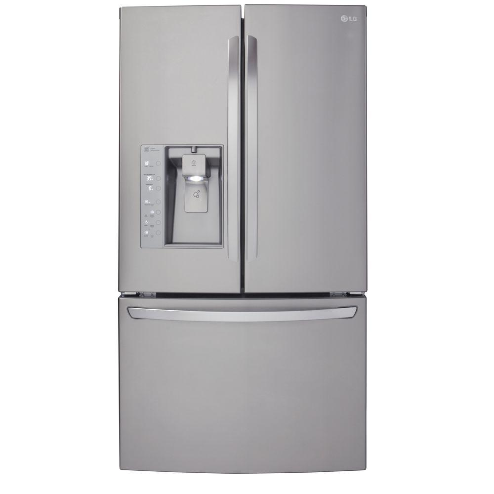 medium resolution of lg electronics 23 7 cu ft french door refrigerator in stainless steel counter depth