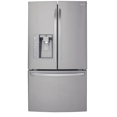 small resolution of lg electronics 23 7 cu ft french door refrigerator in stainless steel counter depth