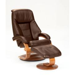 Oslo Posture Chair Review Wicker Cushions Australia Mac Motion Collection Espresso Top Grain Leather Swivel Recliner With Ottoman