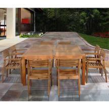 Victoria Square 9-piece Teak Patio Dining Set-sc