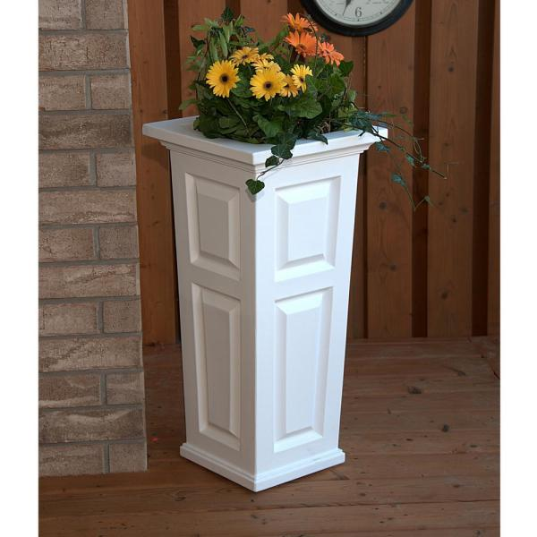 Mayne Nantucket 15-1 2 In. Square White Plastic Column