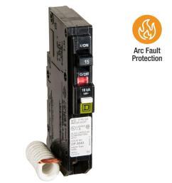 square d qo 15 amp single pole combination arc fault circuit breaker [ 1000 x 1000 Pixel ]