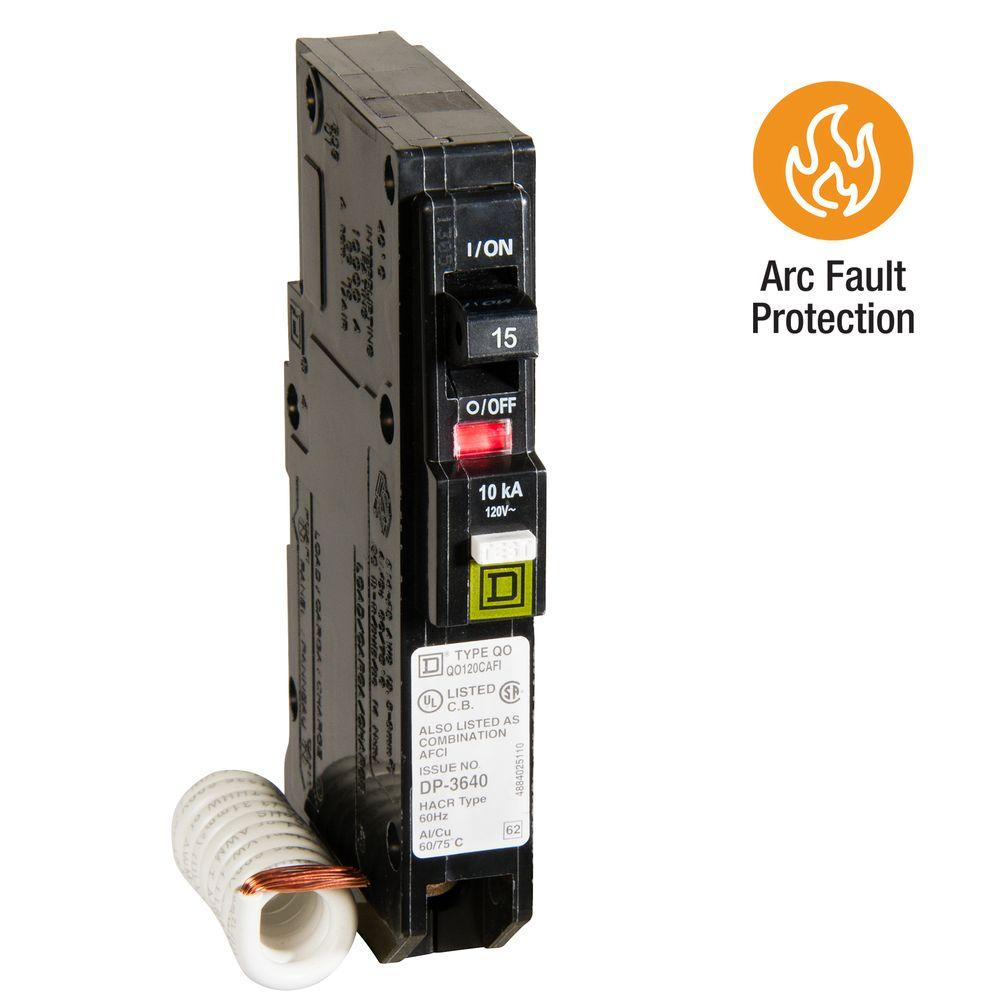 hight resolution of square d qo 15 amp single pole combination arc fault circuit breaker