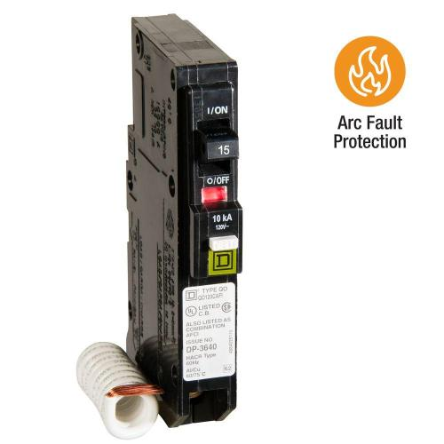 small resolution of square d qo 15 amp single pole combination arc fault circuit breaker