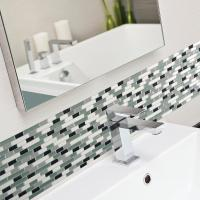 Smart Tiles Muretto Prairies 10.25 in. x 9.125 in. Mosaic ...