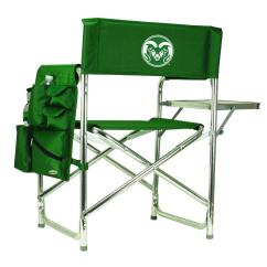 Folding Chair Embroidered Toddler Bean Bag Seat Picnic Time Colorado State University Hunter Green Sports With Logo