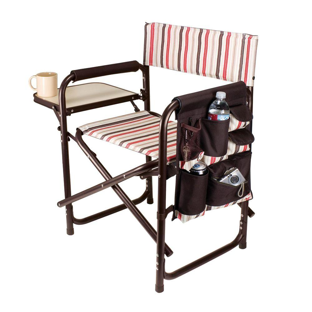 portable folding chairs beach with umbrellas picnic time moka collection sports patio chair 809