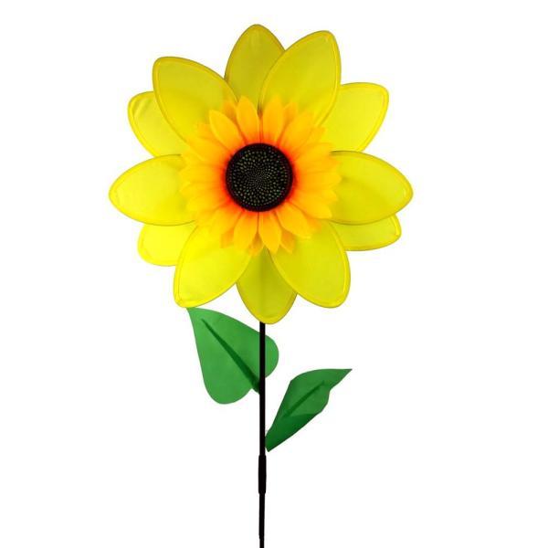 In. Nylon Sunflower Yard Pinwheel-ls218sfs - Home Depot