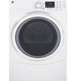 ge 7 5 cu ft capacity front load electric dryer with steam in white [ 1000 x 1000 Pixel ]