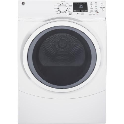small resolution of ge 7 5 cu ft capacity front load electric dryer with steam in white