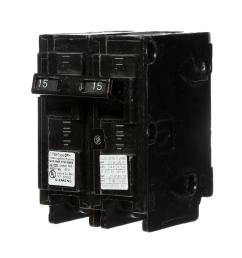 15 amp double pole type qp circuit breaker [ 1000 x 1000 Pixel ]