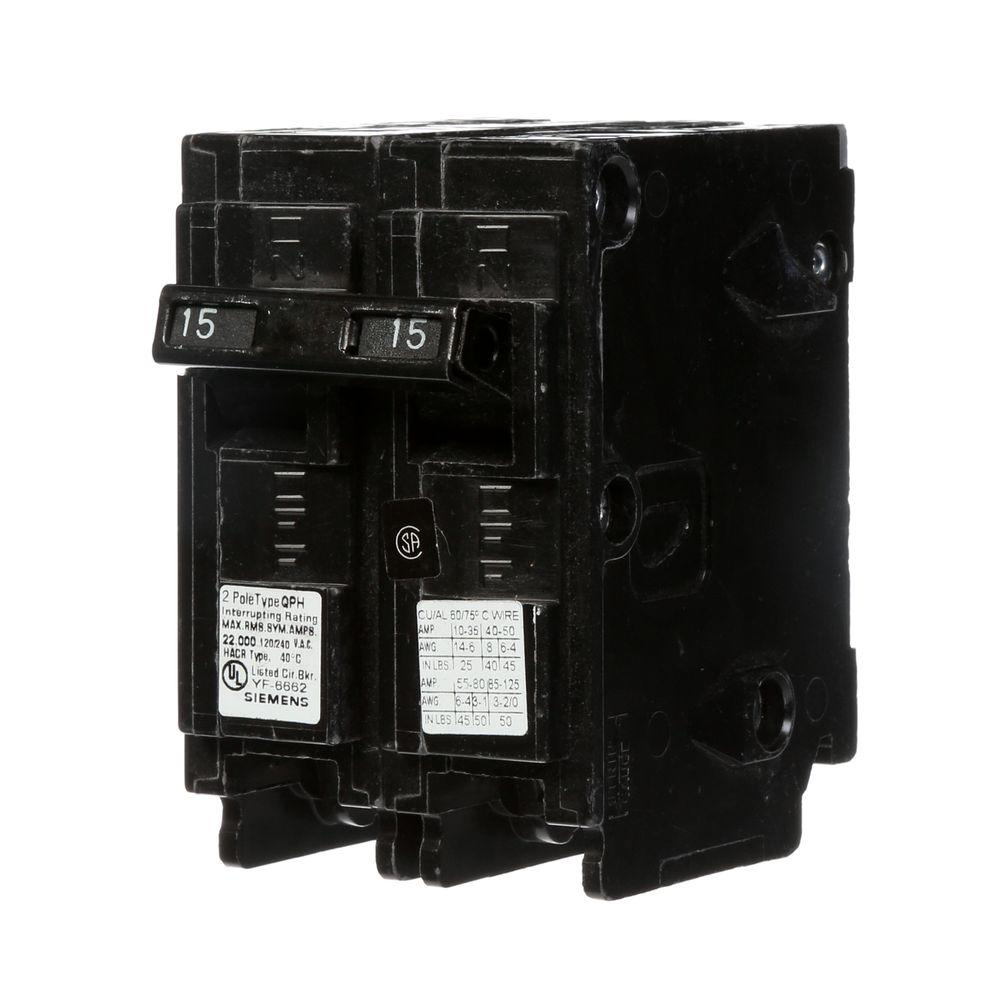 medium resolution of 15 amp double pole type qp circuit breaker