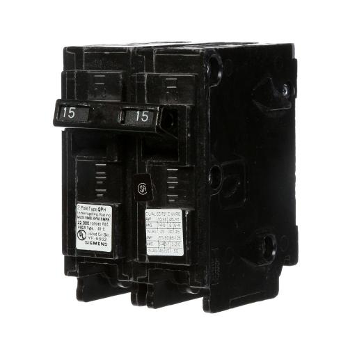 small resolution of 15 amp double pole type qp circuit breaker
