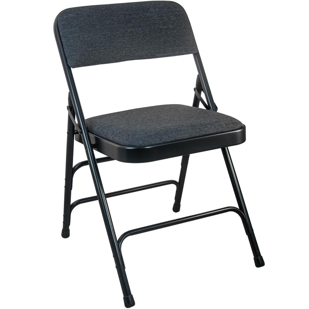 black padded folding chairs fold up for kids advantage 1 in fabric seat metal chair dpi903f