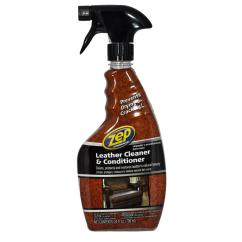 Good Leather Cleaner For Sofas Sofa Back Consoles Zep 24 Oz And Conditioner Zuclc24 The Home Depot