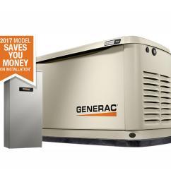 generac 9 000 watt lp 8 000 watt ng air cooled [ 1000 x 1000 Pixel ]