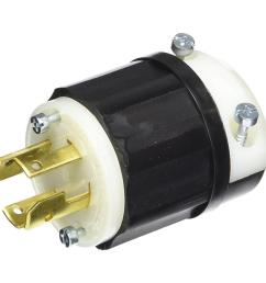 leviton 30 amp 120 208 volt industrial grade 3 phase locking non  [ 1000 x 1000 Pixel ]