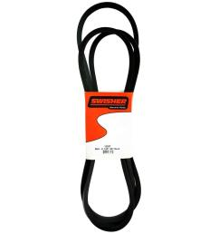 swisher replacement 130 in deck belt for select 60 in trail mowers [ 1000 x 1000 Pixel ]