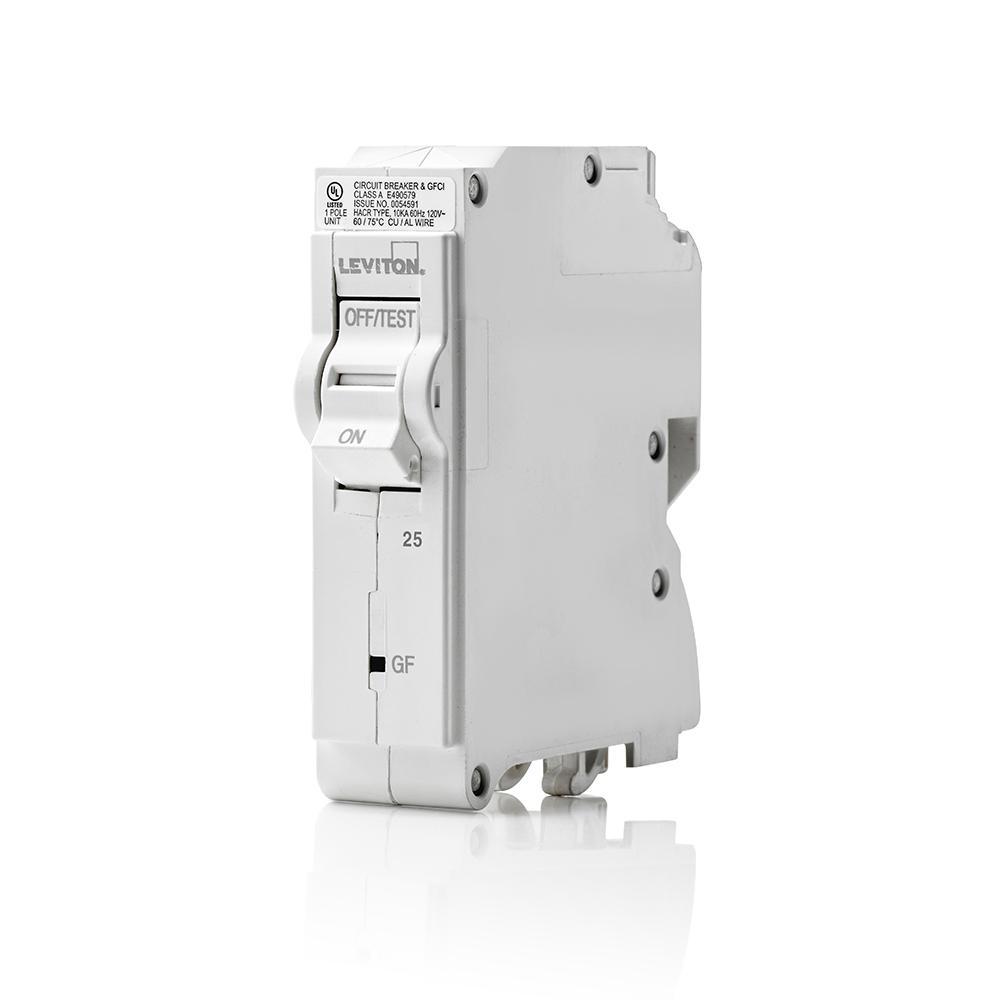 medium resolution of 25 amp 1 pole 120vac plug on gfci branch circuit breaker