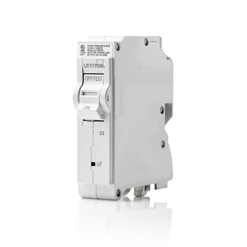 small resolution of 25 amp 1 pole 120vac plug on gfci branch circuit breaker