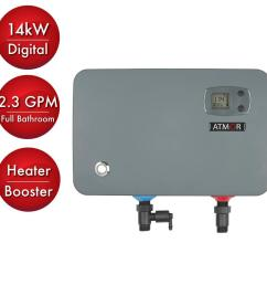 14 kw 240 volt 2 3 gpm electric tankless water heater on demand water [ 1000 x 1000 Pixel ]
