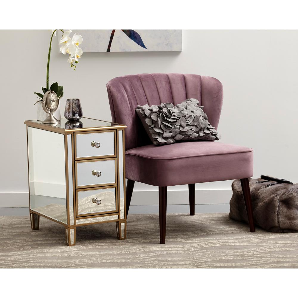 Purple Accent Chair Pulaski Furniture Channeled Back Armless Luxor Lilac Purple Accent