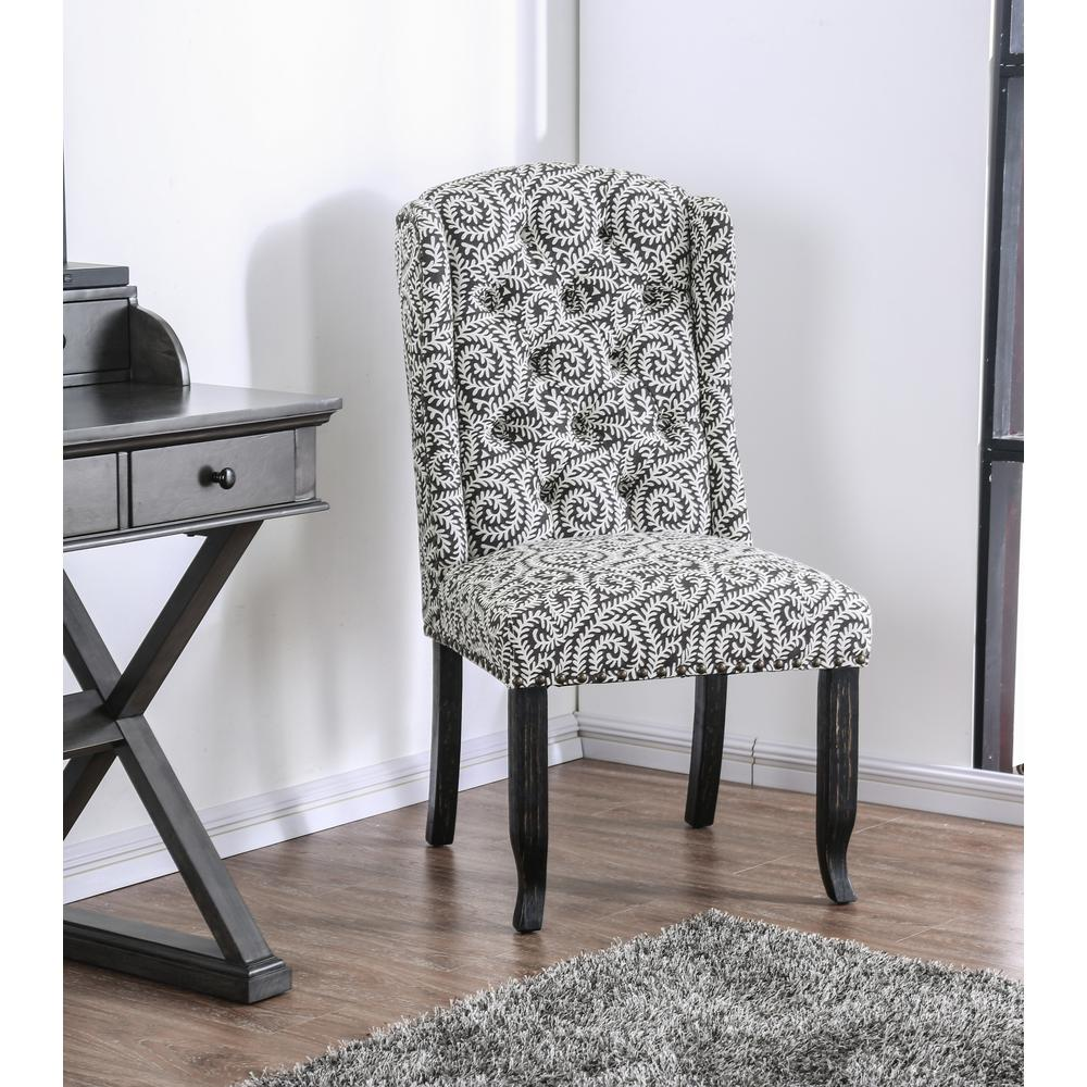 accent chairs gray pattern tufted slipper chair edwards upholstered patterned set of 2 idfac5568gy 2pk the home depot