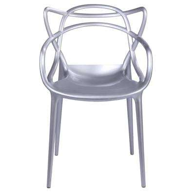 silver metal dining chairs what is a single sofa chair called kitchen room furniture the home brand name