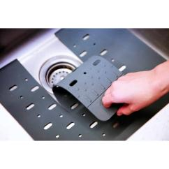 Kitchen Sink Mats Grey Cabinet Ideas Core Home 16 In X Silicone Mat Protector With Drain