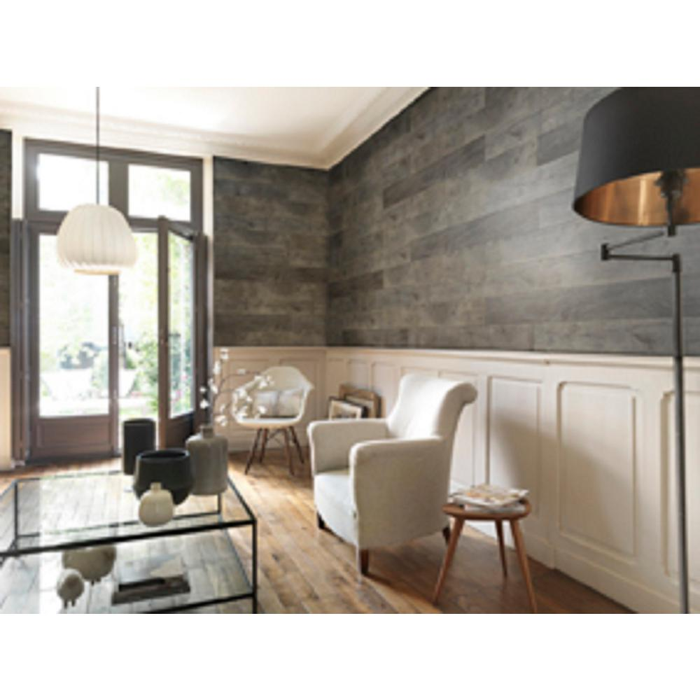 wall panels for living room white leather chair grosfillex element wood 1 4 in x 6 48 grey resin decorative panel 18 pack usc58441 the home depot