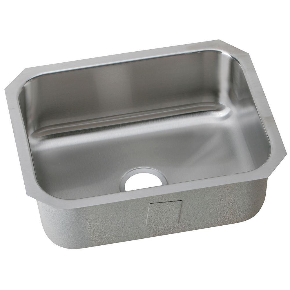 24 kitchen sink moen banbury faucet elkay undermount stainless steel in single bowl