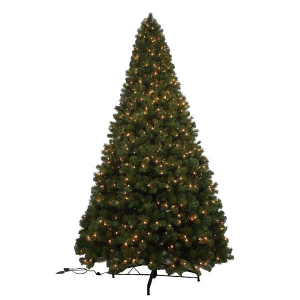 Home Accents Holiday 12 Ft. Noble Fir Quick-set Artificial Christmas Tree With 1450 Clear Lights